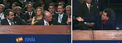 Juan Carlos contro Hugo Chavez, da Libération.fr