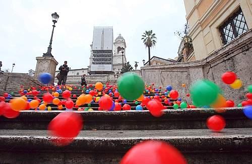 Cecchini a Piazza di Spagna