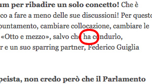 Errore ortografico su Corriere.it
