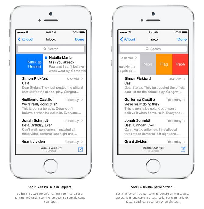 Apple Mail per iOS 8