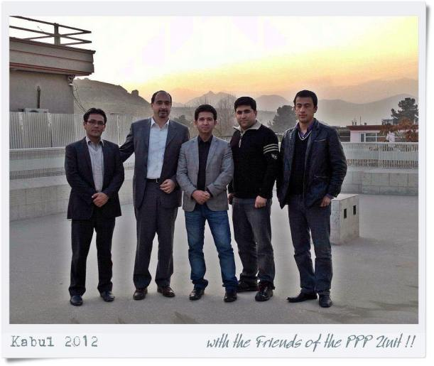 Alessandro Abati with friends in Kabul